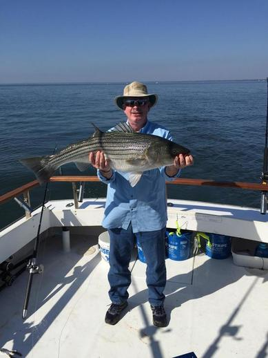 Maryland Fishing Charters for Trophy Striped Bass/Rockfish Kent Island-Annapolis. ​Chasin Tail Charters 410-320-6254